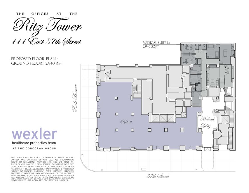 New York City Real Estate | View 111 East 57th Street, #MEDICAL | Floorplan 1