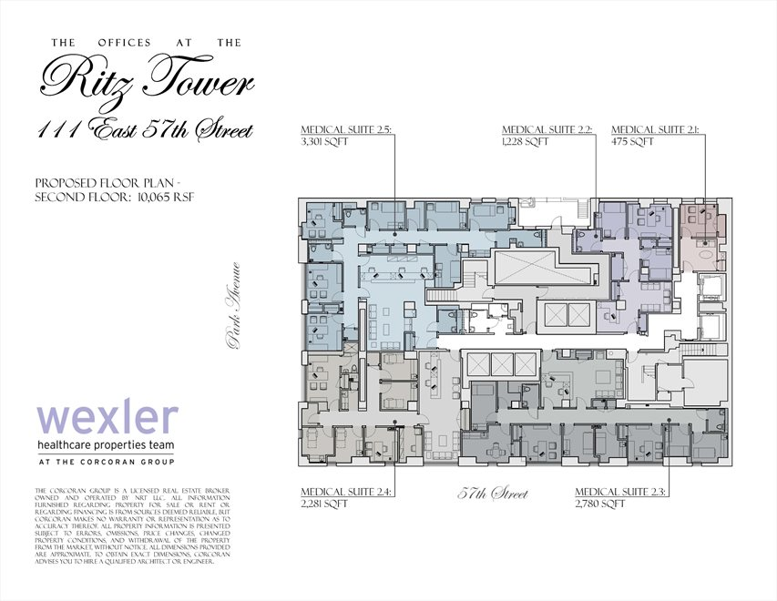 New York City Real Estate | View 111 East 57th Street, #MEDICAL | Floorplan 2