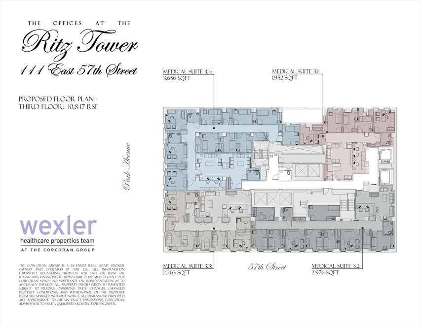 New York City Real Estate | View 111 East 57th Street, #MEDICAL | Floorplan 3
