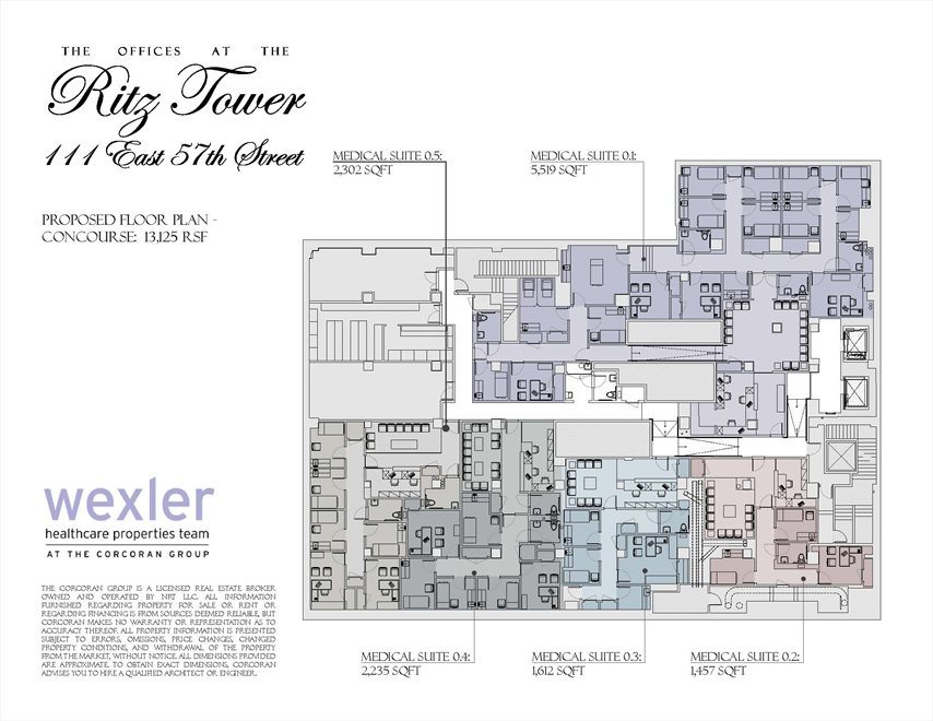 New York City Real Estate | View 111 East 57th Street, #MEDICAL | Floorplan 4