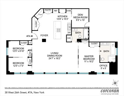 New York City Real Estate | View 38 West 26th Street, #7A | Floorplan