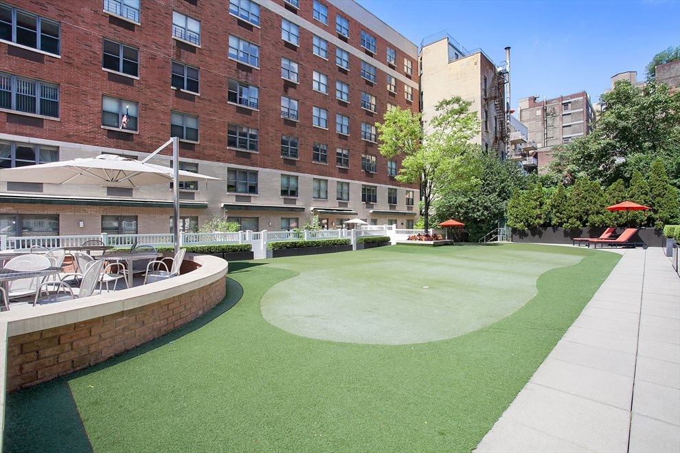 Clinton West Condominium Apartment Building | View 516 West 47th Street | Putting Green