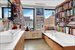 575 Sixth Avenue, 9B, Bathroom trimmed in marble and polished bamboo