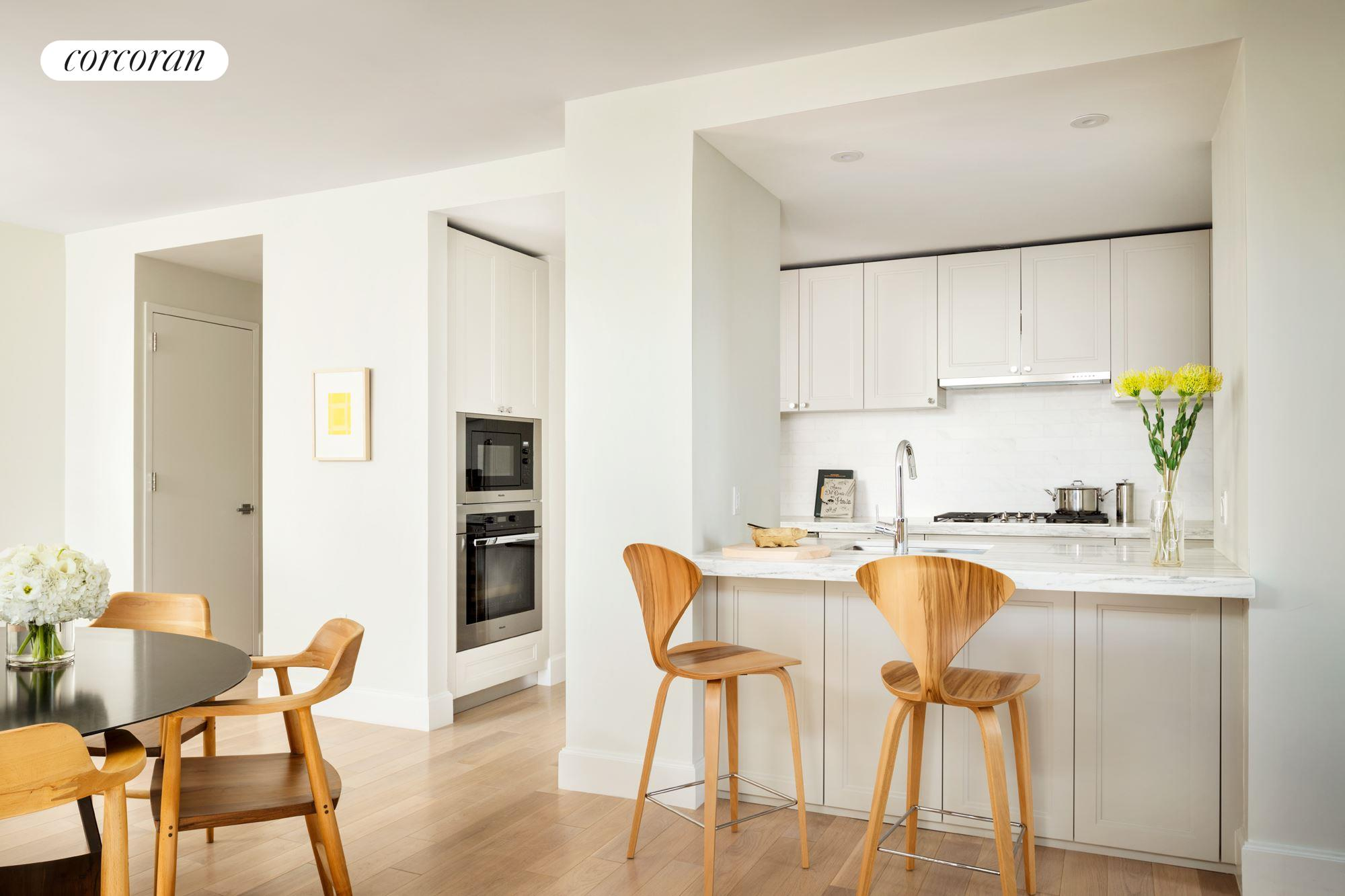 389 East 89th Street, 17G, Kitchen with Miele appliances