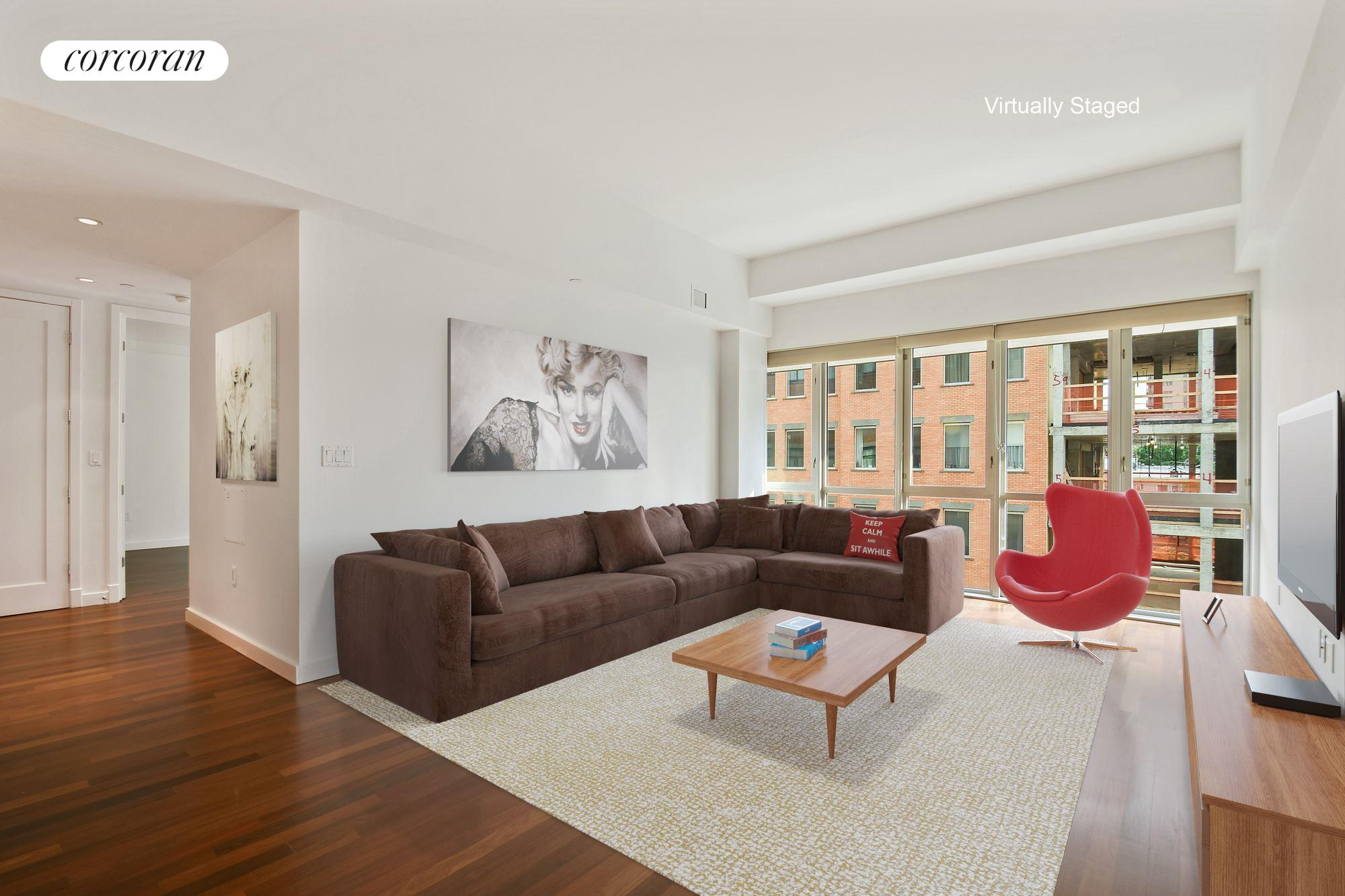 125 North 10th Street, SOUTH4D, Open Living Room w/Southern Light and Views