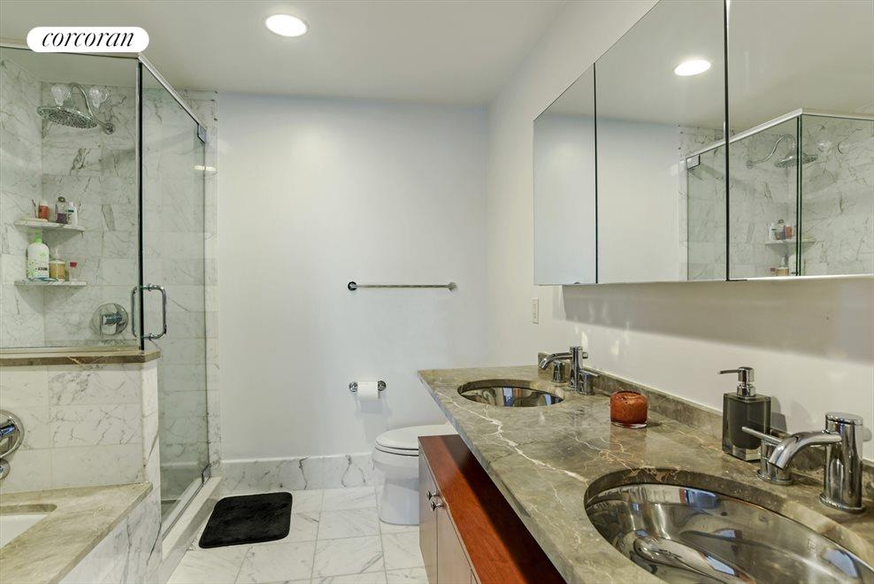 New York City Real Estate | View 440 Kent Avenue, #11D | Master Bathroom