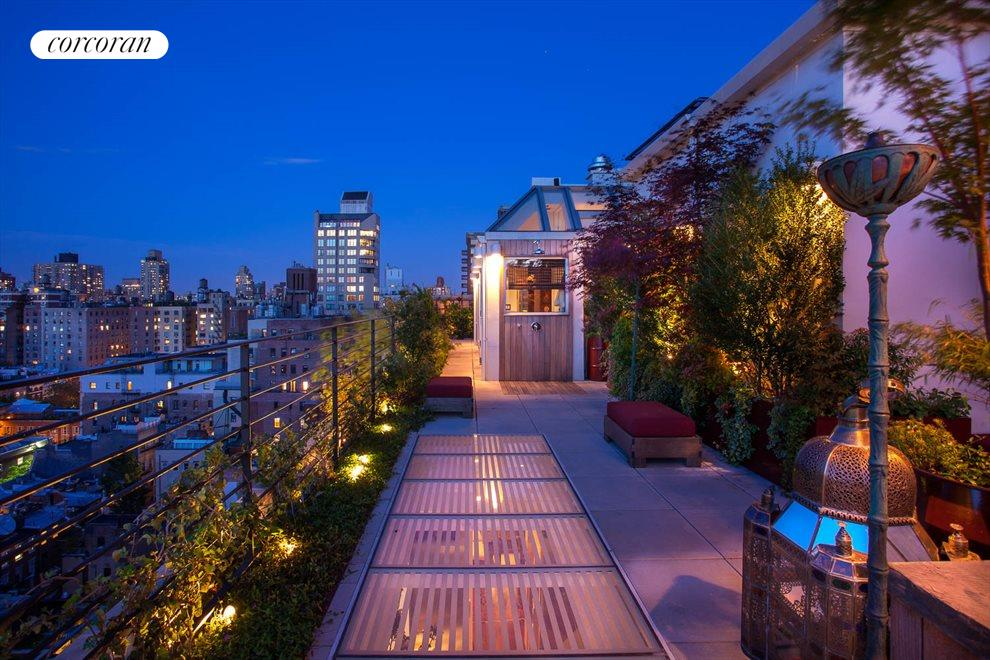 New York City Real Estate | View 988 Fifth Avenue, #PENTHOUSE | Upstairs terrace w/ outdoor shower, gym and sauna