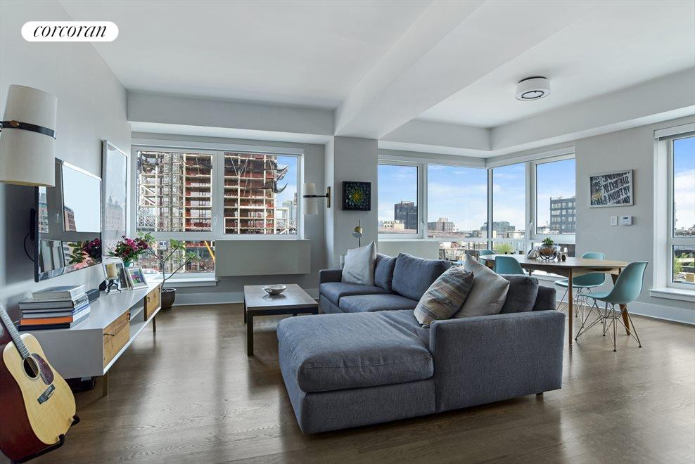 New York City Real Estate | View 440 Kent Avenue, #11D | Living & Dining Area