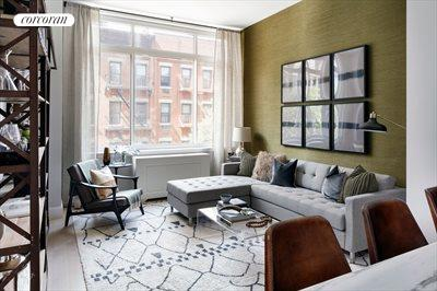New York City Real Estate | View 389 East 89th Street, #5A | South Facing Living Room