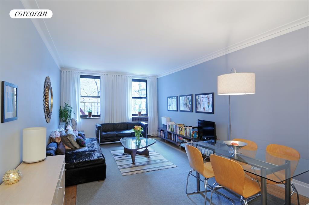 420 Central Park West, 2E, Living Room with large dining area