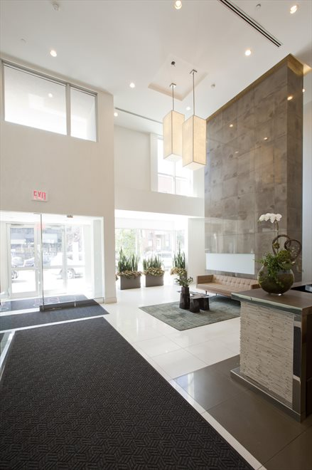 New York City Real Estate | View 125 North 10th Street, #S-3I | Grand Full-Service Lobby