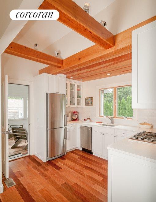 Kitchen and a peek onto the three season porch