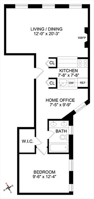New York City Real Estate | View 202 West 92nd Street, #4F | Floorplan