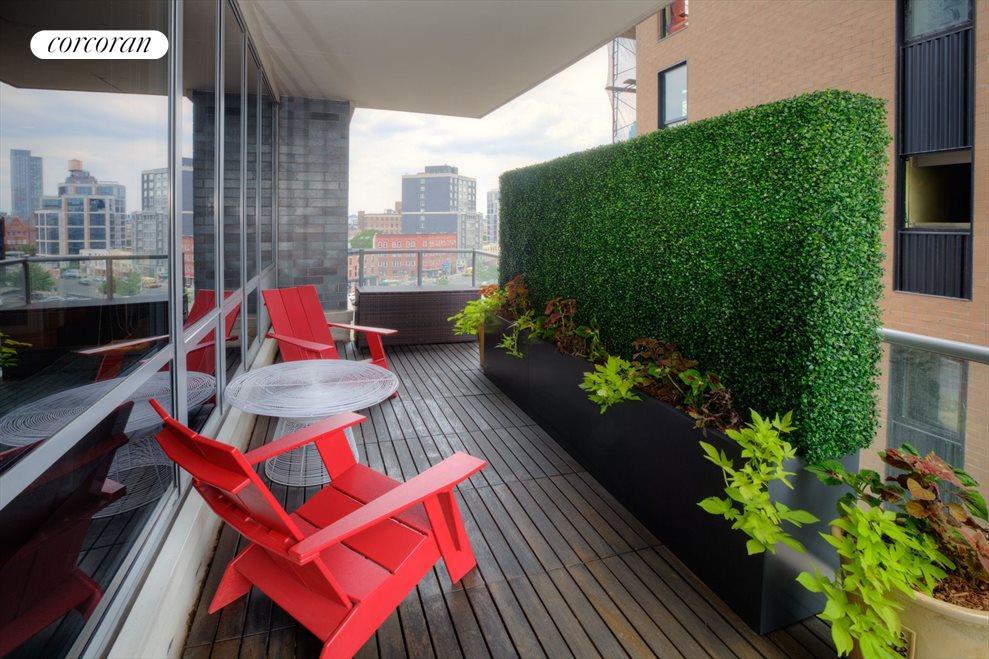Teak Flooring on Private Landscaped Balcony