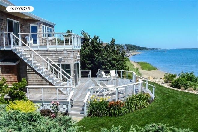 308 East Montauk Highway, late summer view east