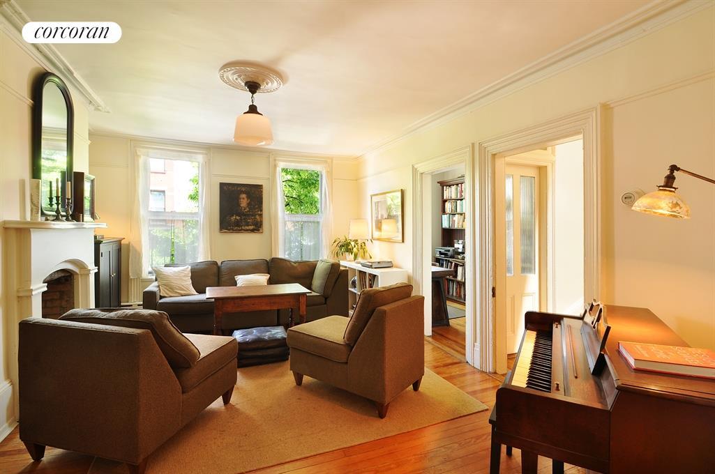 Townhouse Living Room Setup: Corcoran, 62 Grand Street, Williamsburg Real Estate