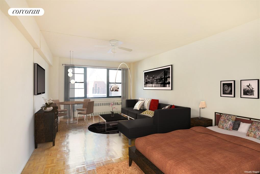 408 West 57th Street, 7F, Studio (virtually staged)