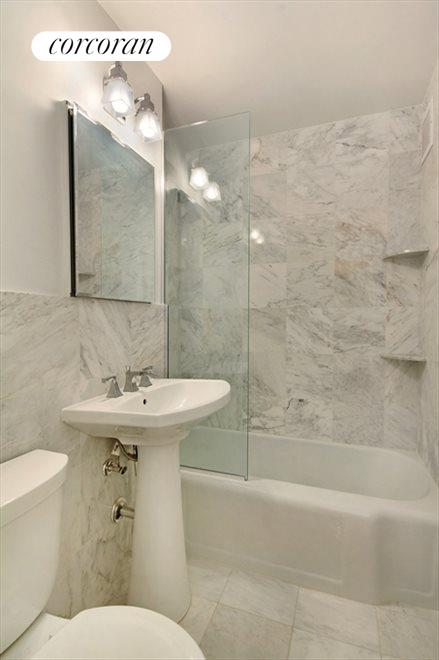 Renovated Marble Bathroom