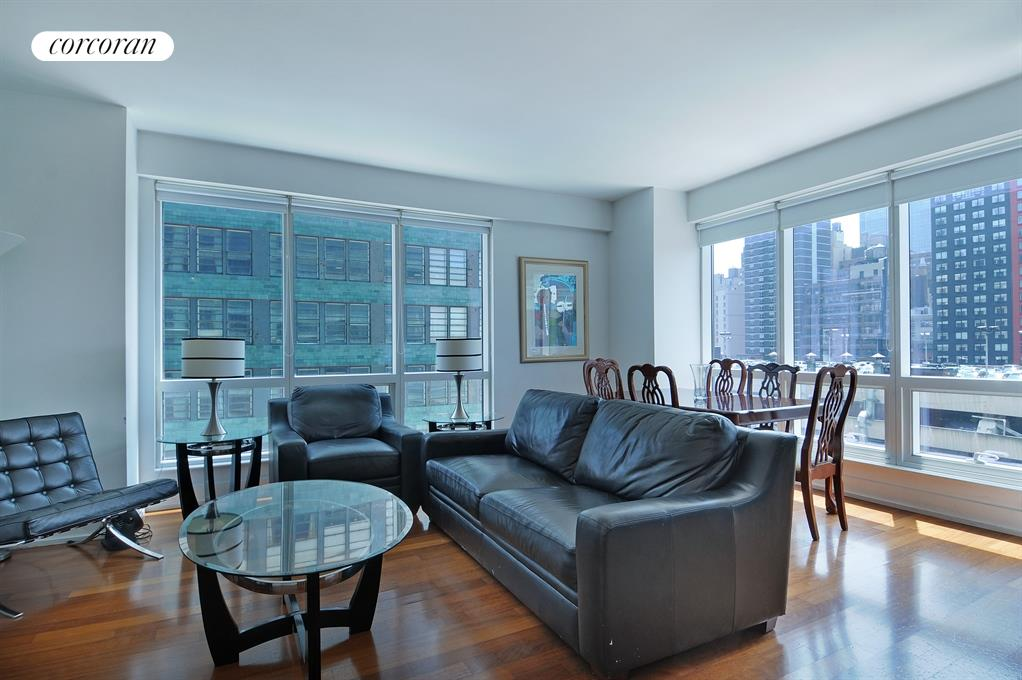 350 West 42nd Street, 12G, Living Room