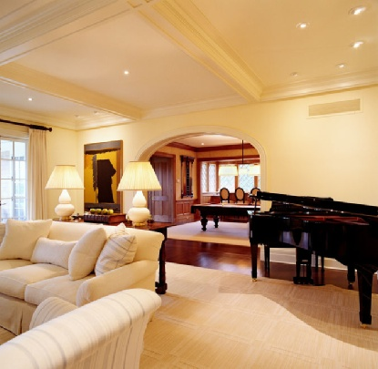 Living Room To Billiard Room