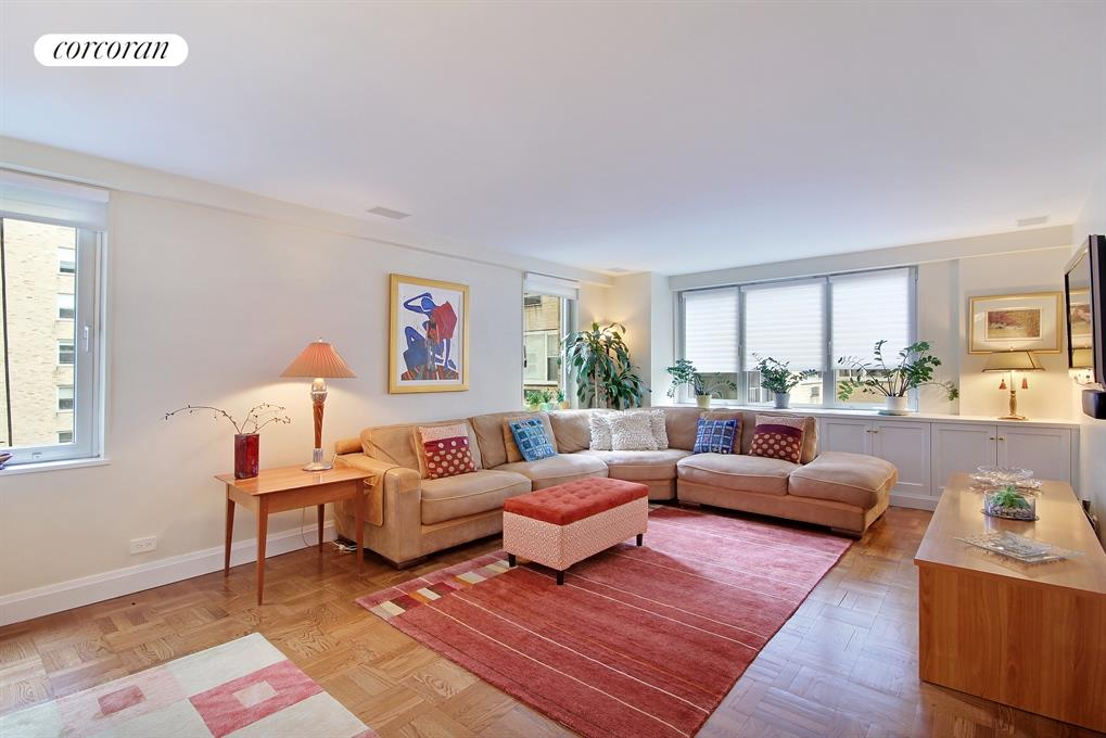 Corcoran 535 east 86th street apt 4e upper east side for Living room 86th st
