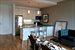 roomy, open kitchen/living area plan