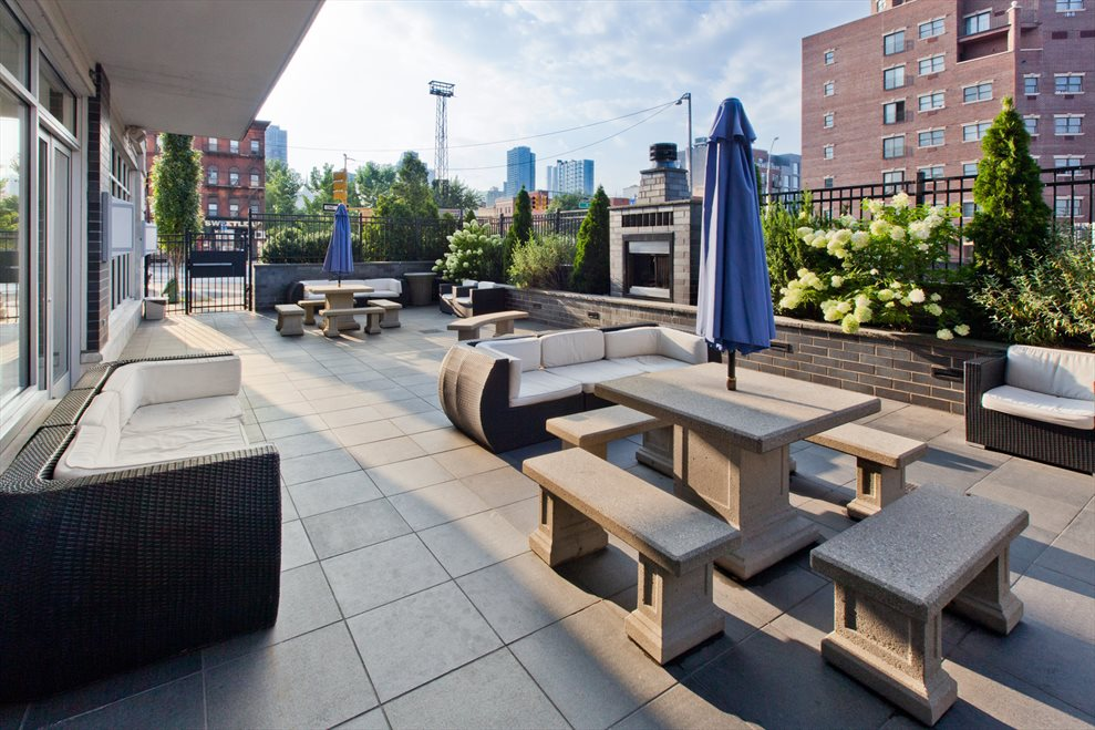 Patio and Common Grilling Area