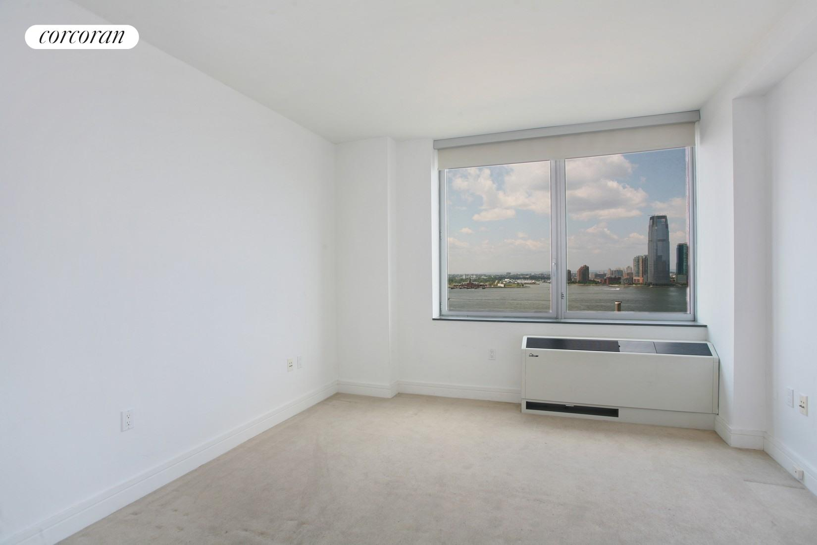 30 West Street, 16G, Living Room with River Views