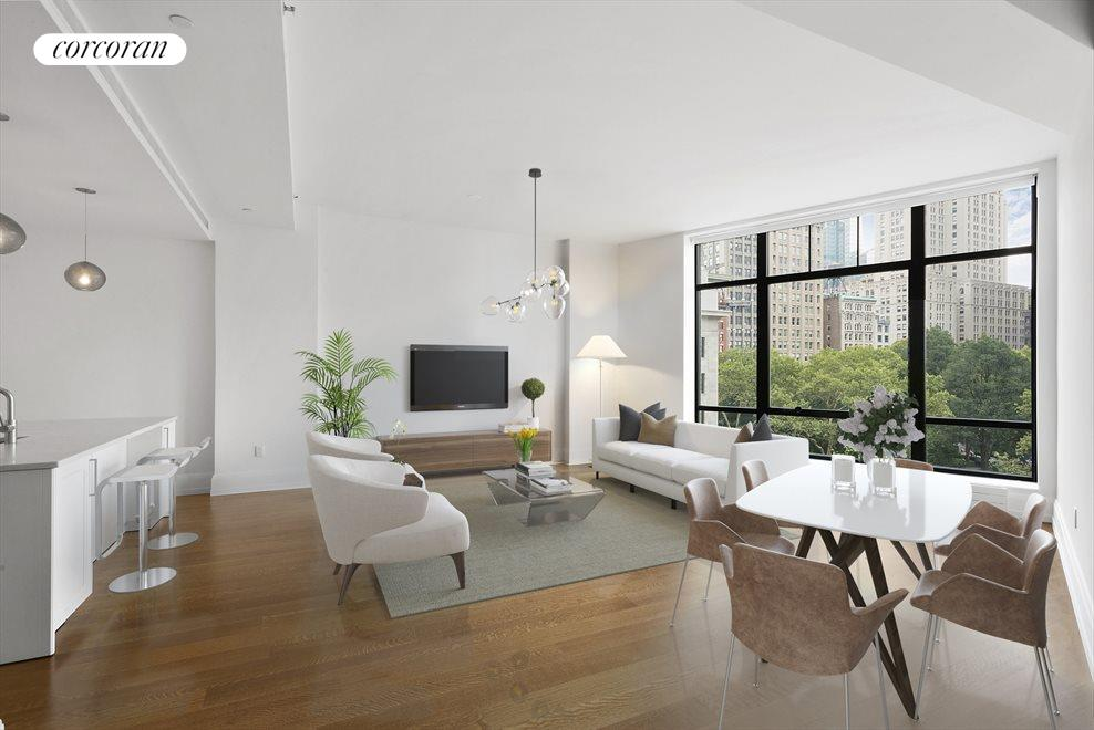 New York City Real Estate | View 10 MADISON SQUARE WEST, #5G | 3 Beds, 3 Baths