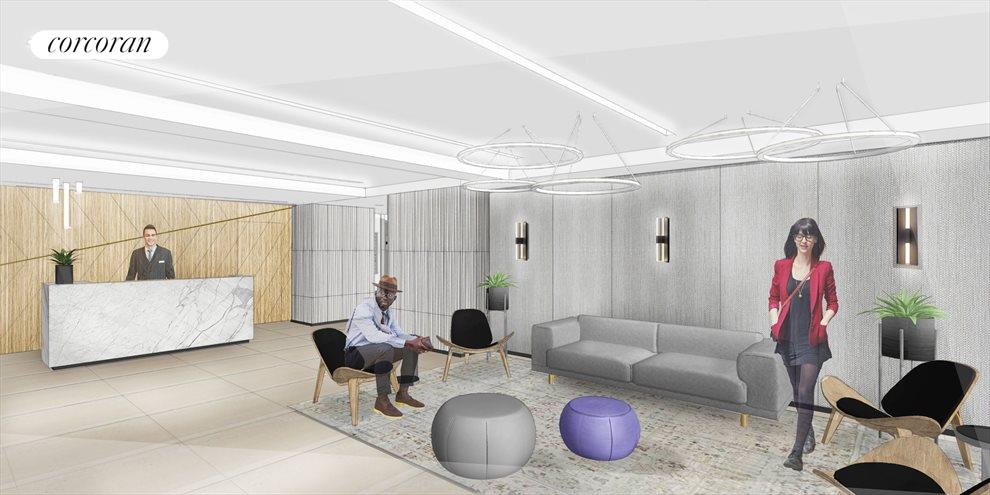 New York City Real Estate | View 440 Kent Avenue, #11D | Rendering for New Lobby