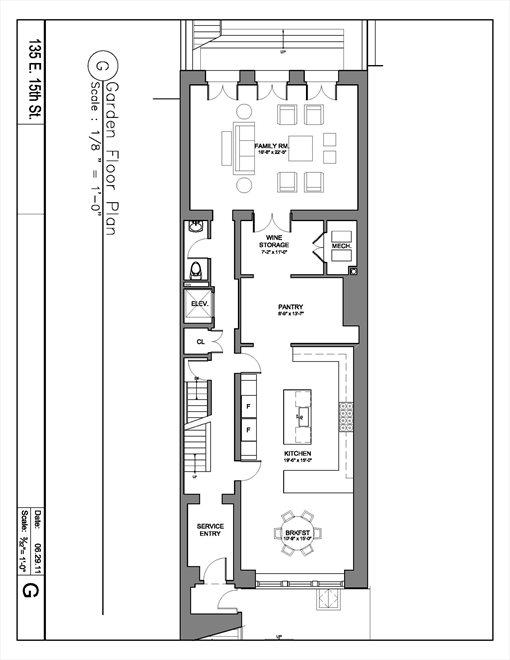 New York City Real Estate | View 135 East 15th Street | Floorplan 1