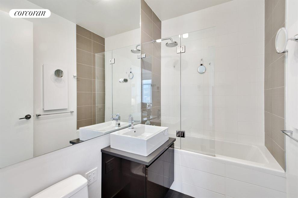 Bathroom with radiant heated floors
