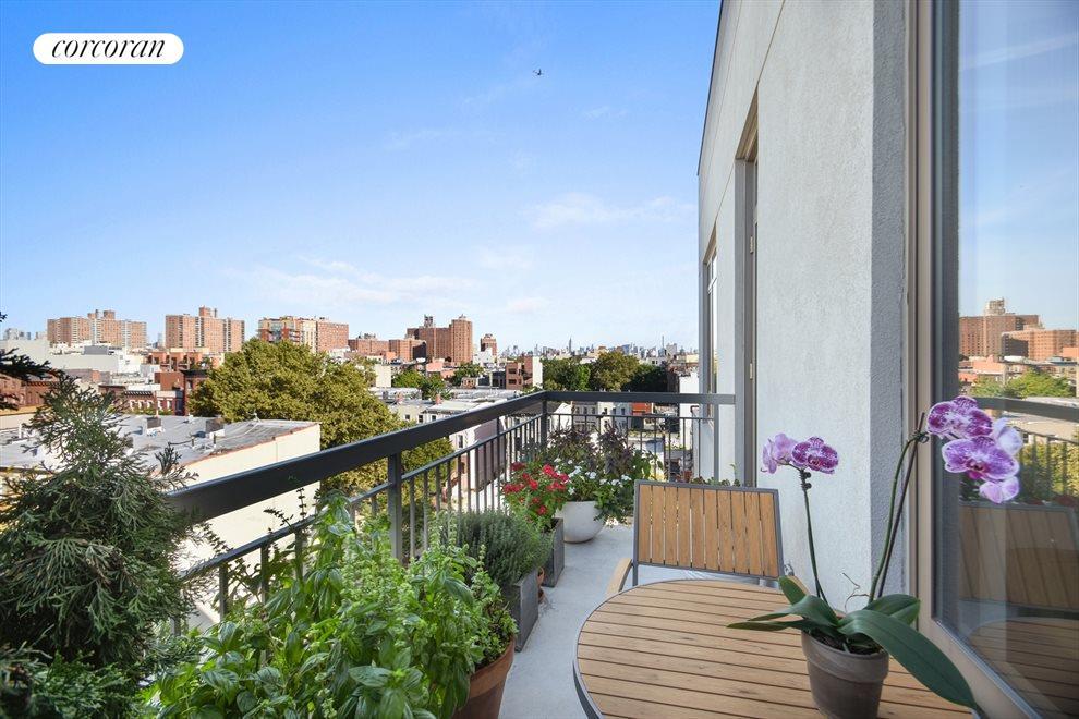 Private balcony with skyline views