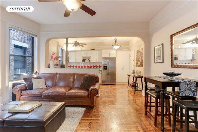 109 West 82nd Street, 3D, Over-sized Living Room with Dining Area