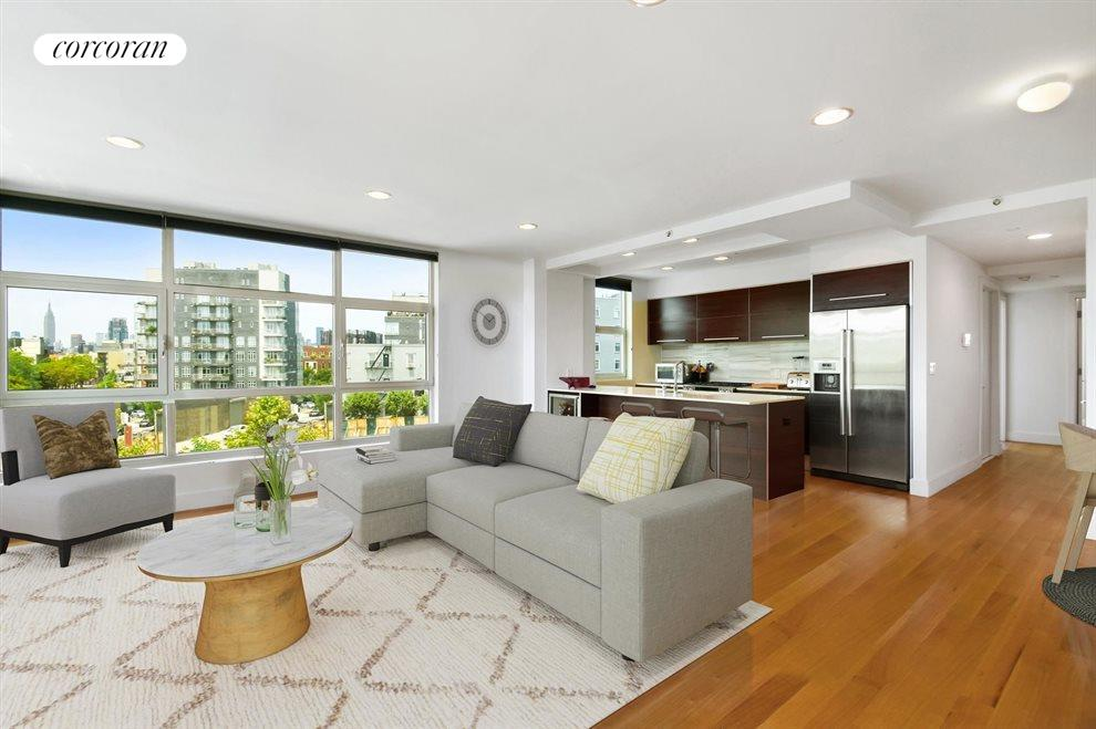 New York City Real Estate | View 460 Manhattan Avenue, #4A | Kitchen & Living Room