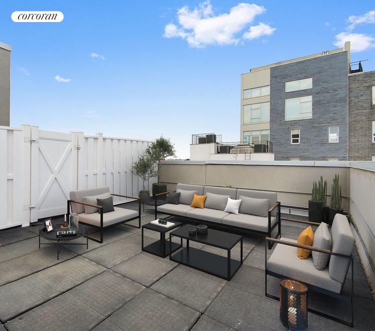 New York City Real Estate | View 460 Manhattan Avenue, #4A | Rooftop Cabana