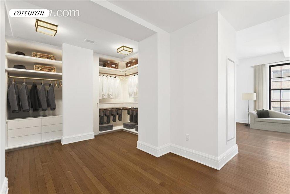 master walk-in closet (virtually staged)