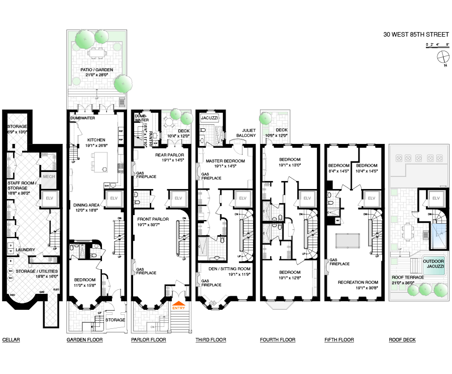 new york townhouse floor plans. Corcoran  30 West 85th Street Upper Side Real Estate Manhattan For Sale Homes Townhouse Douglas Albert Brian Rice