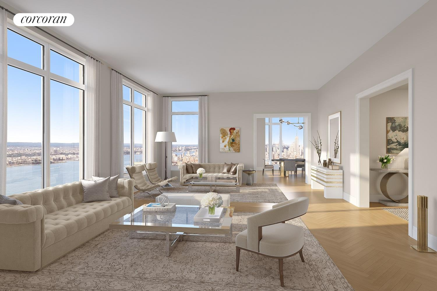 30 PARK PLACE, 55B, Living Room