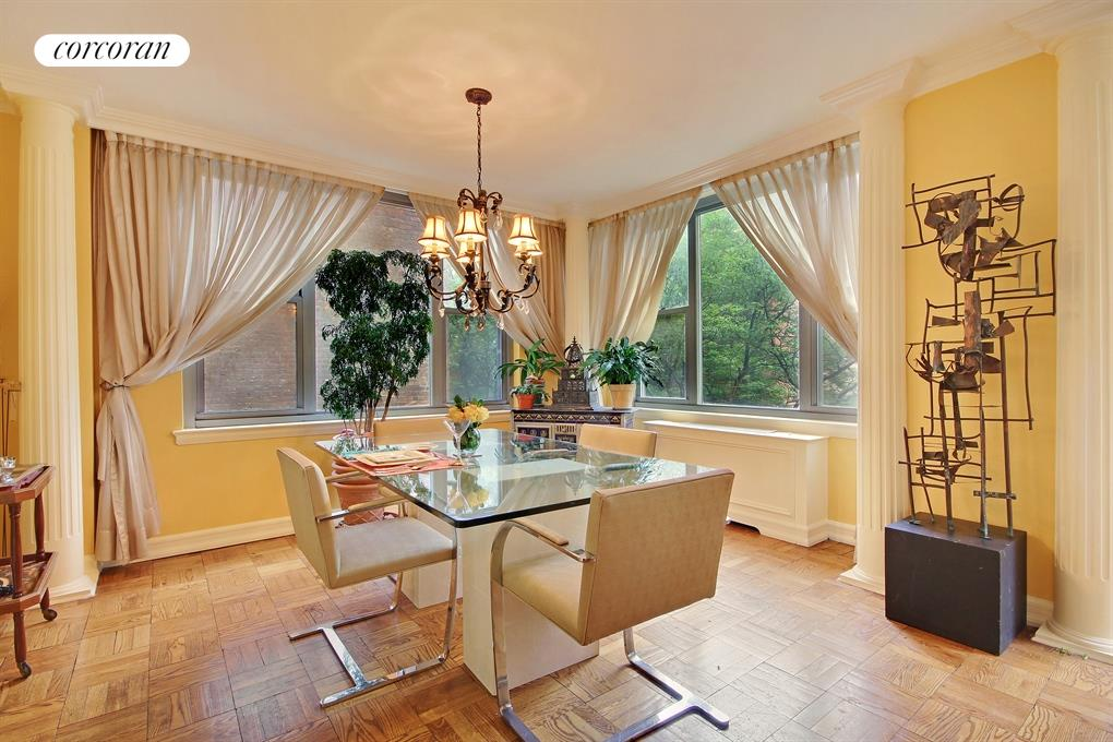 176 East 71st Street, 4B, Walls of Windows in the Corner Living/Dining room
