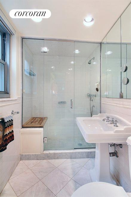 Marble Master Bathroom with Walk-In Shower