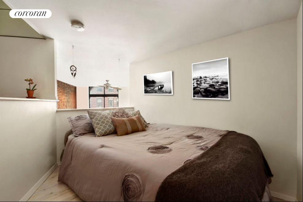 "Bedroom - airy and charming with 6'6"" ceilings"