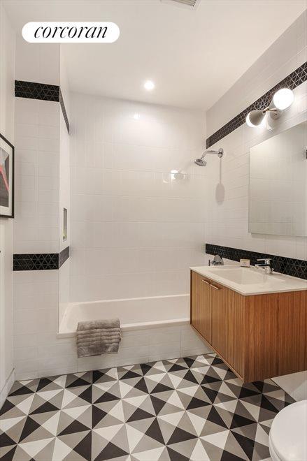 Custom Bathroom with Cement Tiles