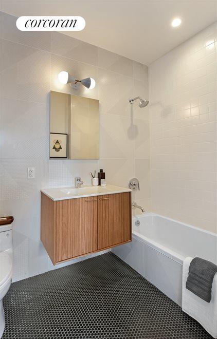 Custom Baths with Floating Vanities