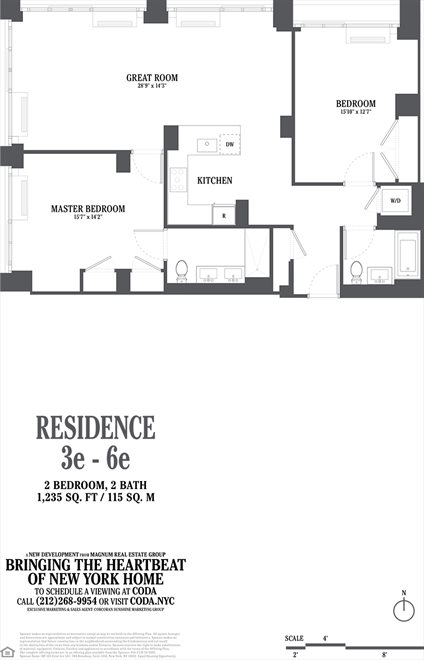 New York City Real Estate | View 385 First Avenue, #3E | Floorplan