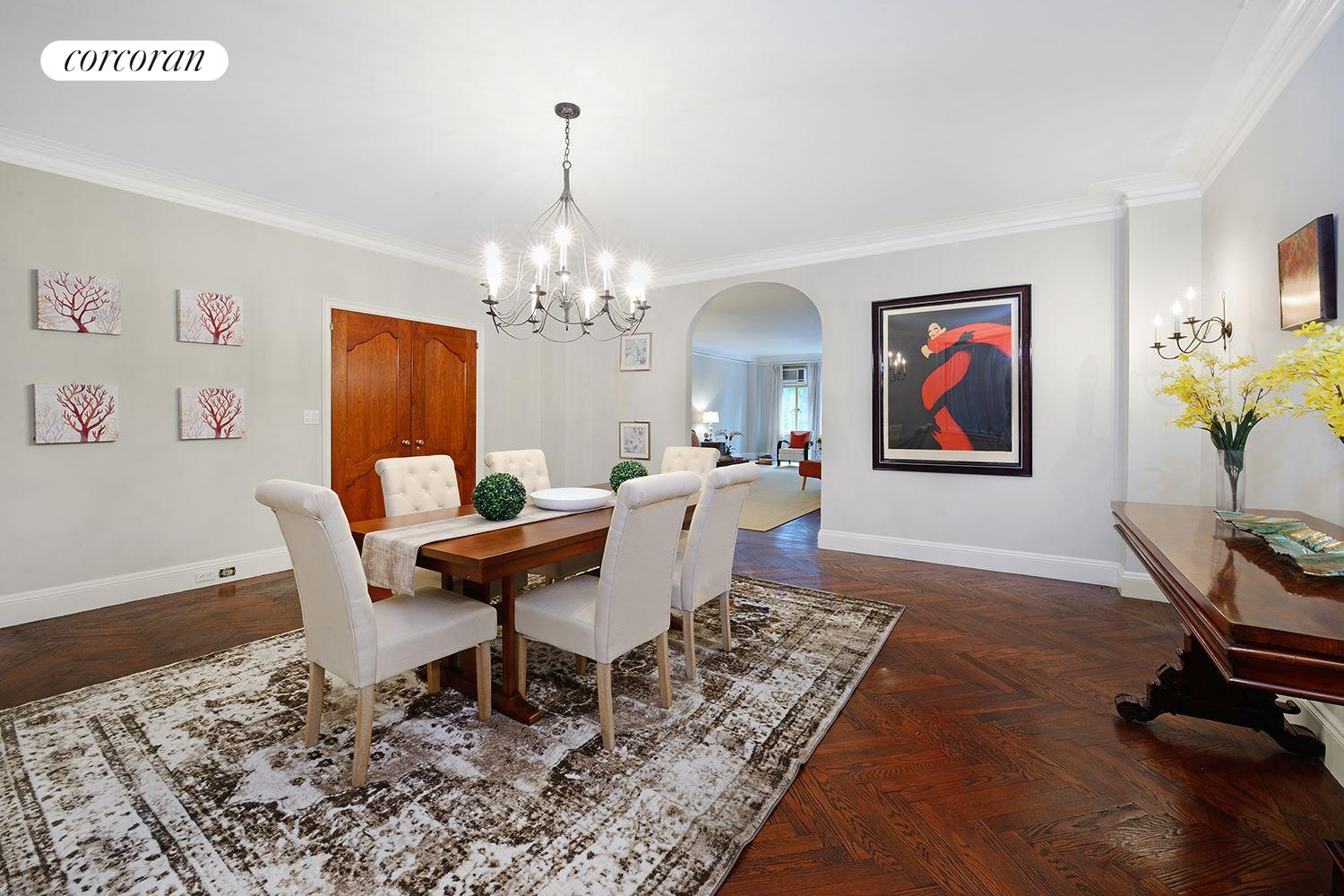 211 Central Park West, 2G, Huge Living Room with WBF