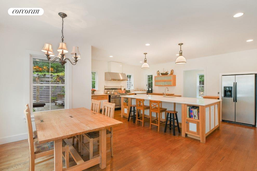 New York City Real Estate | View Sag Harbor | Kitchen with dining area