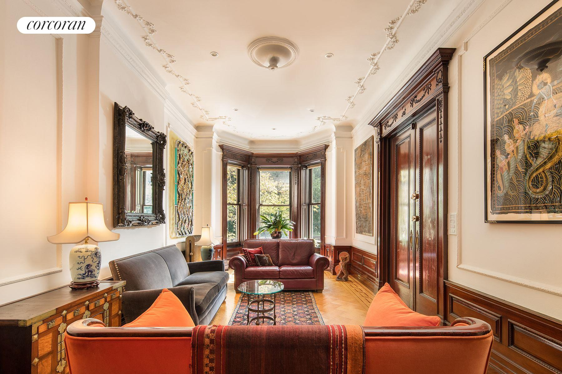 106 Prospect Park West 1 Parlor Floor Living Room With Nearly 12 Ft Ceiling