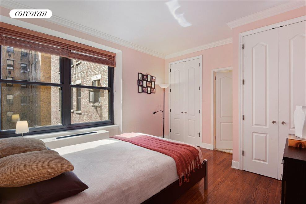 New York City Real Estate | View 257 Central Park West, #7G | Sunny Bedroom with En-Suite Bathroom and 2 Closets