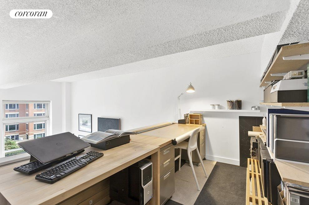 Loft currently houses an active home office